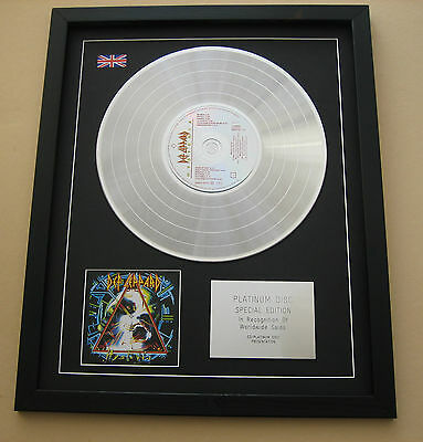 DEF LEPPARD Hysteria CD / PLATINUM DISC Presentation • 89£