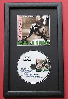 THE CLASH London Calling FRAMED CD Disc Presentation • 25£