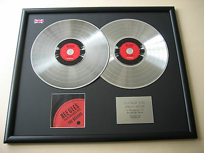 BEE GEES Their Greatest Hits The Record DOUBLE CD DISC Platinum Presentation • 99£
