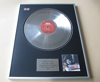 SIMPLY RED Picture Book PLATINUM PRESENTATION DISC • 99£