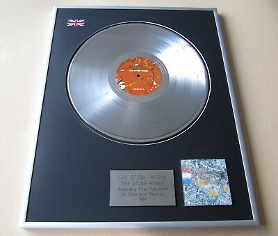 STONE ROSES The Stone Roses PLATINUM PRESENTATION DISC • 109£