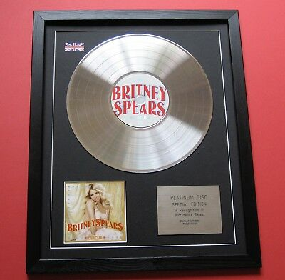 BRITNEY SPEARS Circus IN THE ZONE Everytime CD / PLATINUM PRESENTATION DISC • 89£