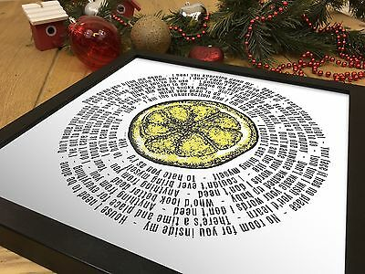 The Stone Roses 12 Inch Vinyl LP Size Print | I Am The Resurrection Song Lyrics • 15.90£