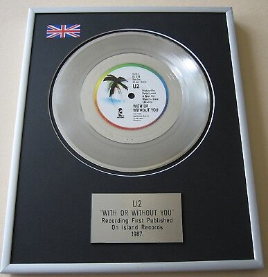 U2 With Or Without You PLATINUM PRESENTATION DISC • 65£