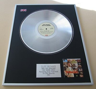 CLIFF RICHARD & THE SHADOWS The Young Ones PLATINUM PRESENTATION DISC • 99£
