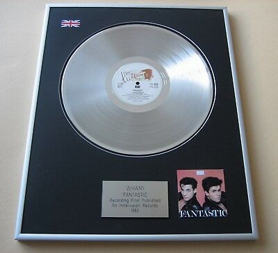 WHAM / GEORGE MICHAEL Fantastic PLATINUM PRESENTATION DISC • 99£