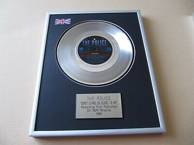 POLICE Don't Stand So Close To Me PLATINUM PRESENTATION DISC • 59£