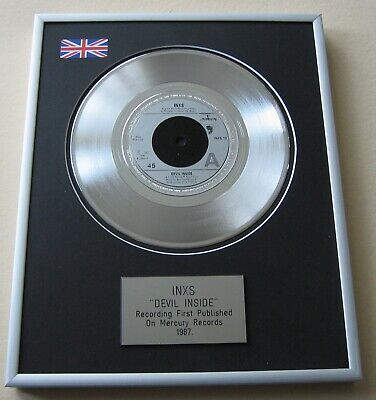 INXS Devil Inside PLATINUM PRESENTATION DISC • 65£