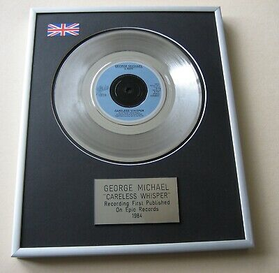 GEORGE MICHAEL Careless Whisper PLATINUM PRESENTATION DISC • 59£