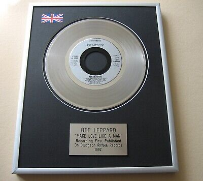 DEF LEPPARD Make Love Like A Man PLATINUM PRESENTATION DISC • 59£