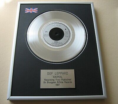 DEF LEPPARD Animal PLATINUM PRESENTATION DISC • 59£