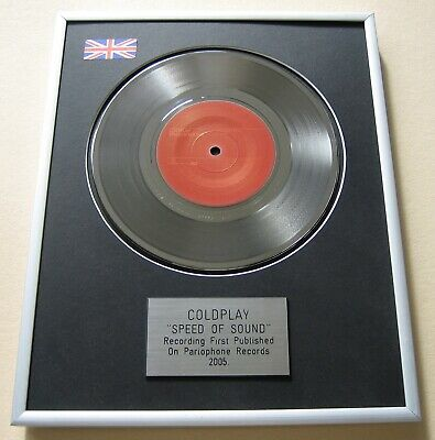 COLDPLAY Speed Of Sound PLATINUM PRESENTATION DISC • 65£