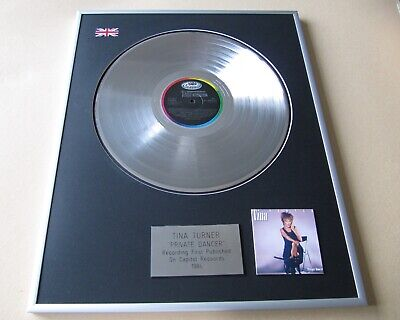 TINA TURNER Private Dancer PLATINUM PRESENTATION DISC • 109£