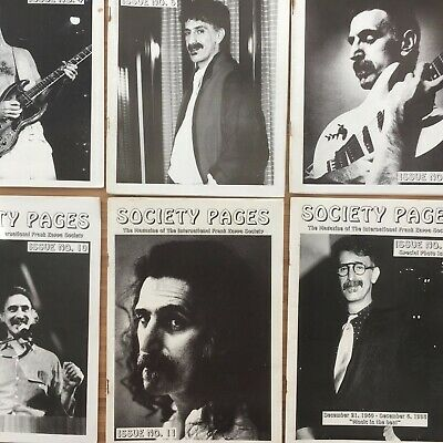 FRANK ZAPPA  Society Pages  Fanzine, Issues 1-12 • 180£