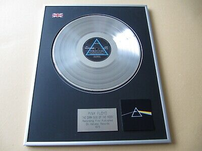 PINK FLOYD The Dark Side Of The Moon PLATINUM PRESENTATION DISC • 115£