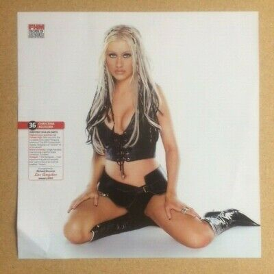CHRISTINA AGUILERA Original Vintage  FHM Decade Of 100 Sexiest  Poster (SP) • 10£