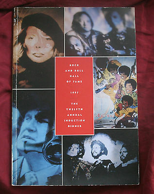 1997 12th Annual Rock Roll Hall Of Fame Program Joni Mitchell Bee Gees Jackson 5 • 177.94£