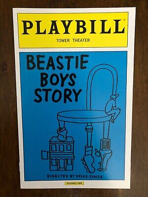 Rare Collectible Beastie Boys Story Playbill Memorabilia Tower Theater Philly • 11.90£