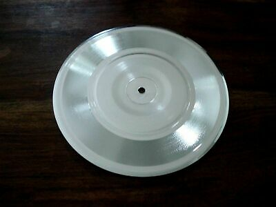 Blank Silver Platinum Metalized 7  Single Disc Record Make Your Own Music Award • 34.99£