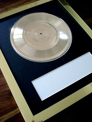 Personalised Gold 7  Single / Frame / Mount - Make Your Own Music Award • 59.99£