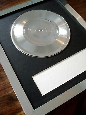 Personalised Platinum Silver 7  Single / Frame / Mount Make Your Own Music Award • 59.99£