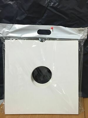 Pack Of 25 X WHITE 12'' Vinyl LP Record Album Card Sleeves/Covers High Quality • 12£