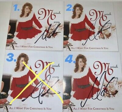Mariah Carey Official Autographed Signed All I Want Christmas Cd Insert Rare • 30.02£
