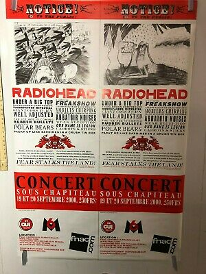 HUGE SUBWAY POSTER Radiohead Concert Promo Poster FRANCE  Kid A  2000 RARE • 442.46£
