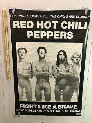 HUGE SUBWAY POSTER Red Hot Chili Peppers Socks On C*cks Fight Like A Brave PROMO • 140.64£
