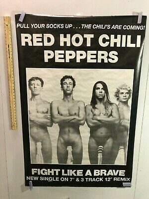 HUGE SUBWAY POSTER Red Hot Chili Peppers Socks On C*cks Fight Like A Brave PROMO • 141.83£