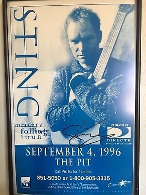 Sting Signed Show Poster  • 321.87£
