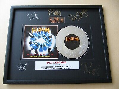 DEF LEPPARD Action - Heaven Is - Tonight AUTOGRAPHED PLATINUM PRESENTATION DISC • 149£
