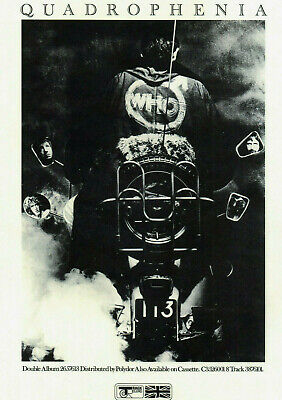 QUADROPHENIA POSTER. Size Large-A2. Repro. THE WHO, Mod. • 9.99£