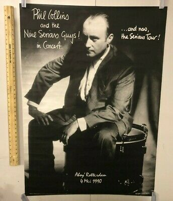 Vintage 1990 Amsterdam Concert Poster Phil Collins Genesis Mojo Concerts Classic • 128.71£