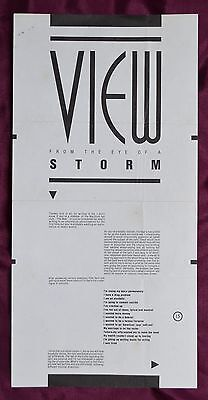 Fish View From The Eye Of A Storm – 1st Solo News Sheet – Signed – Marillion • 26.99£