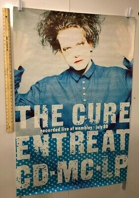 HUGE SUBWAY POSTER The Cure Entreat Recorded Live At Wembley July 1989 Smith • 230.16£