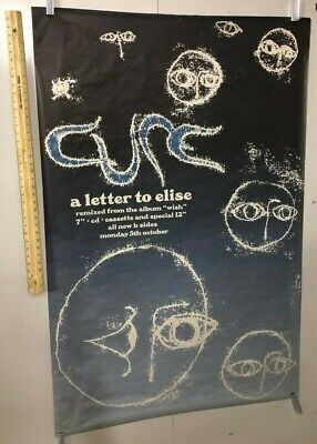 HUGE SUBWAY POSTER The Cure A Letter To Elise 1992 Wish Album New Wave Gothic • 209.23£