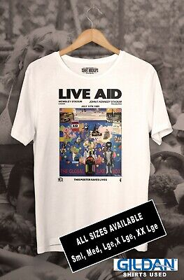 LIVE AID - Wembley 1985 Tee Shirt From Original Poster • 15£