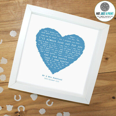 Coldplay 'Sparks' Personalised Framed Song Lyrics Heart Print Valentines Day • 32.90£