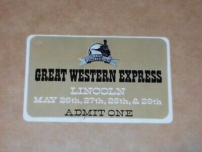 Great Western Express Festival, Lincoln 1972 Ticket (Genesis/Rory Gallagher) • 125£