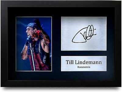 Till Lindemann Signed Pre Printed Autograph Photo Gift For A Rammstein Fan • 19.99£
