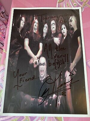 Signed Cradle Of Filth Picture • 10£
