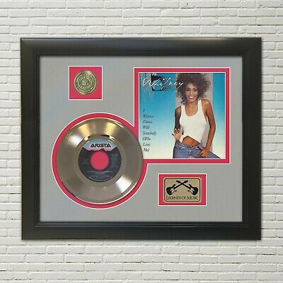 Whitney Houston I Want To Dance Framed Picture Sleeve Gold 45 Record Display  • 108.08£