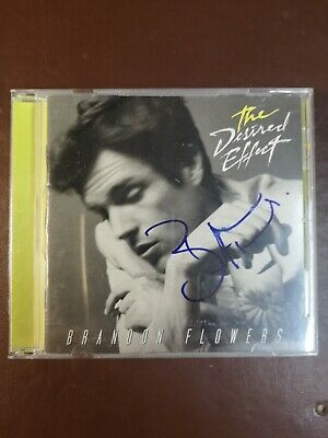 Brandon Flowers The Killers Hand Signed The Desired Effect Cd Proof • 50£