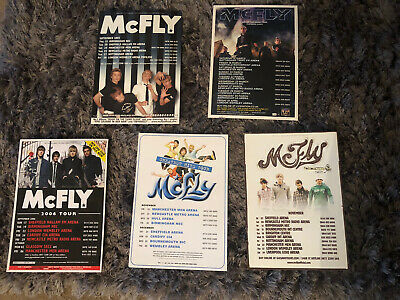 McFLY - TOUR FLYERS- CONCERT TOUR POSTER FLYER A5 X5 • 3.50£