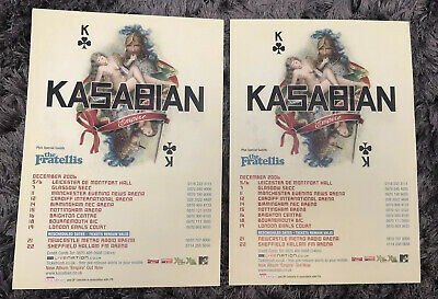 2 X KASABIAN Official Tour Flyer UK Tour Dec 2006 Supported By The Fratellis • 2.99£