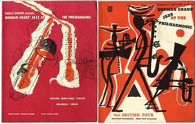 JAZZ AT THE PHILHARMONIC Concert Programmes Ella Fitzgerald Oscar Peterson • 15£