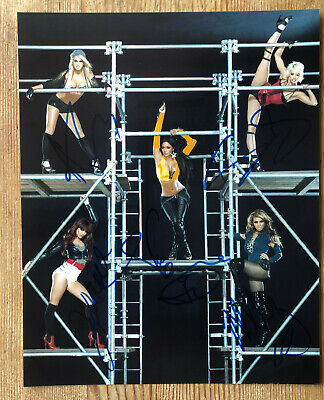THE PUSSYCAT DOLLS Signed Photo 10x8  - Genuine Autographs In Blue Pen • 29.99£