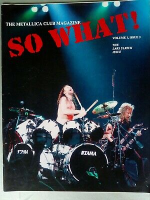 Metallica Fan Club Mag , So What Volume 1 Issue 3 • 12£