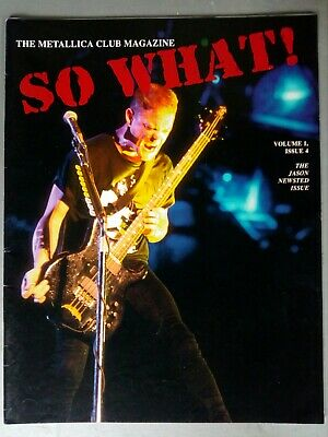 Metallica Fan Club Mag No 4, So What Volume 1 Issue 4 • 12£
